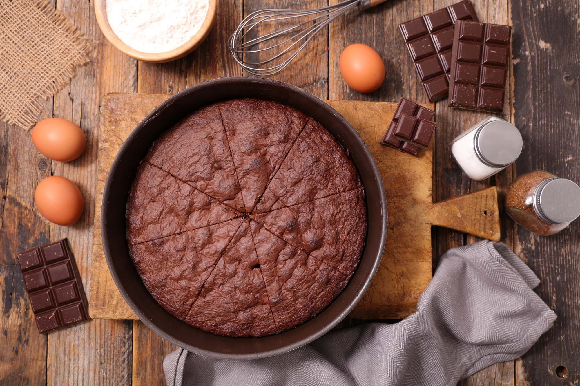 Mandel-chokoladekage