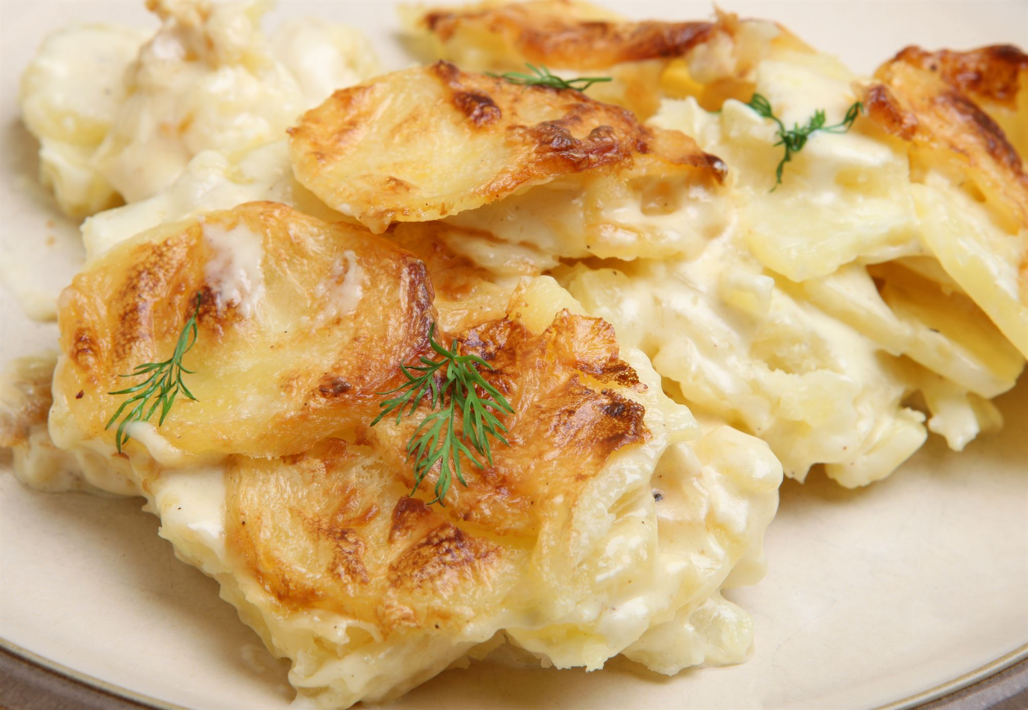 Flødekartofler med løg