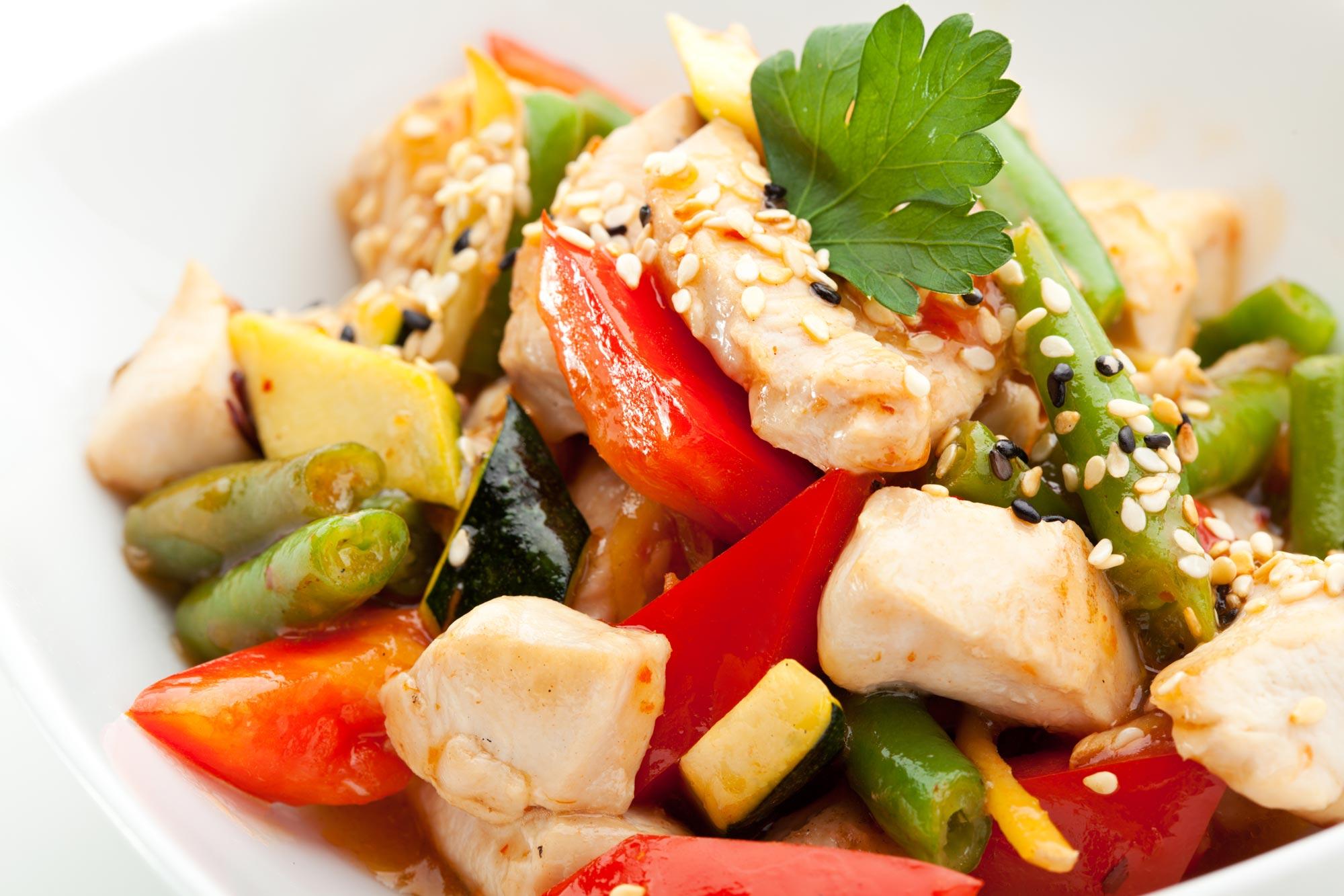 Kalkun og kylling salat fedfattig