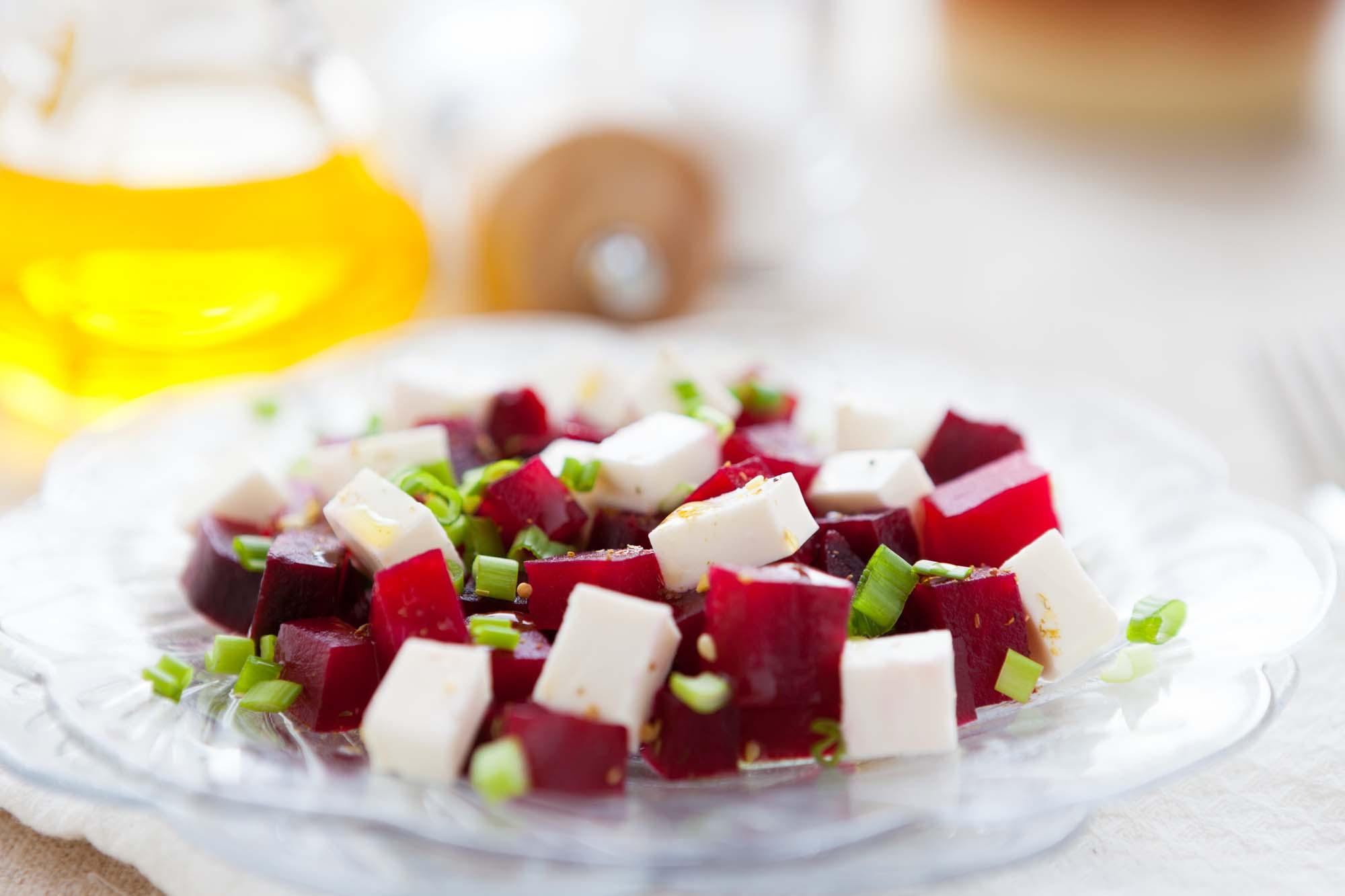 Salat - bagt rødbedesalat