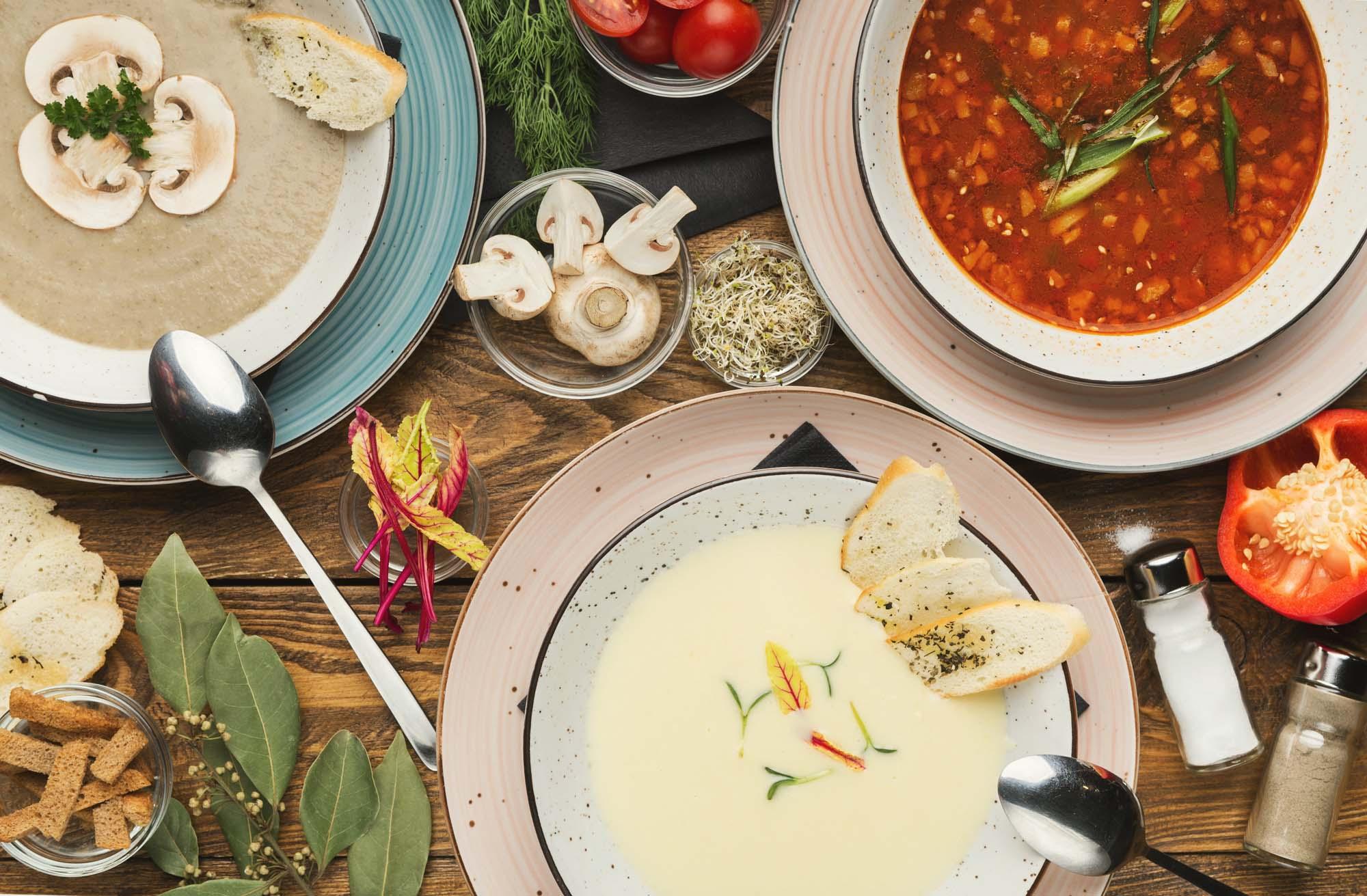 Arabisk inspireret suppe med tre smage