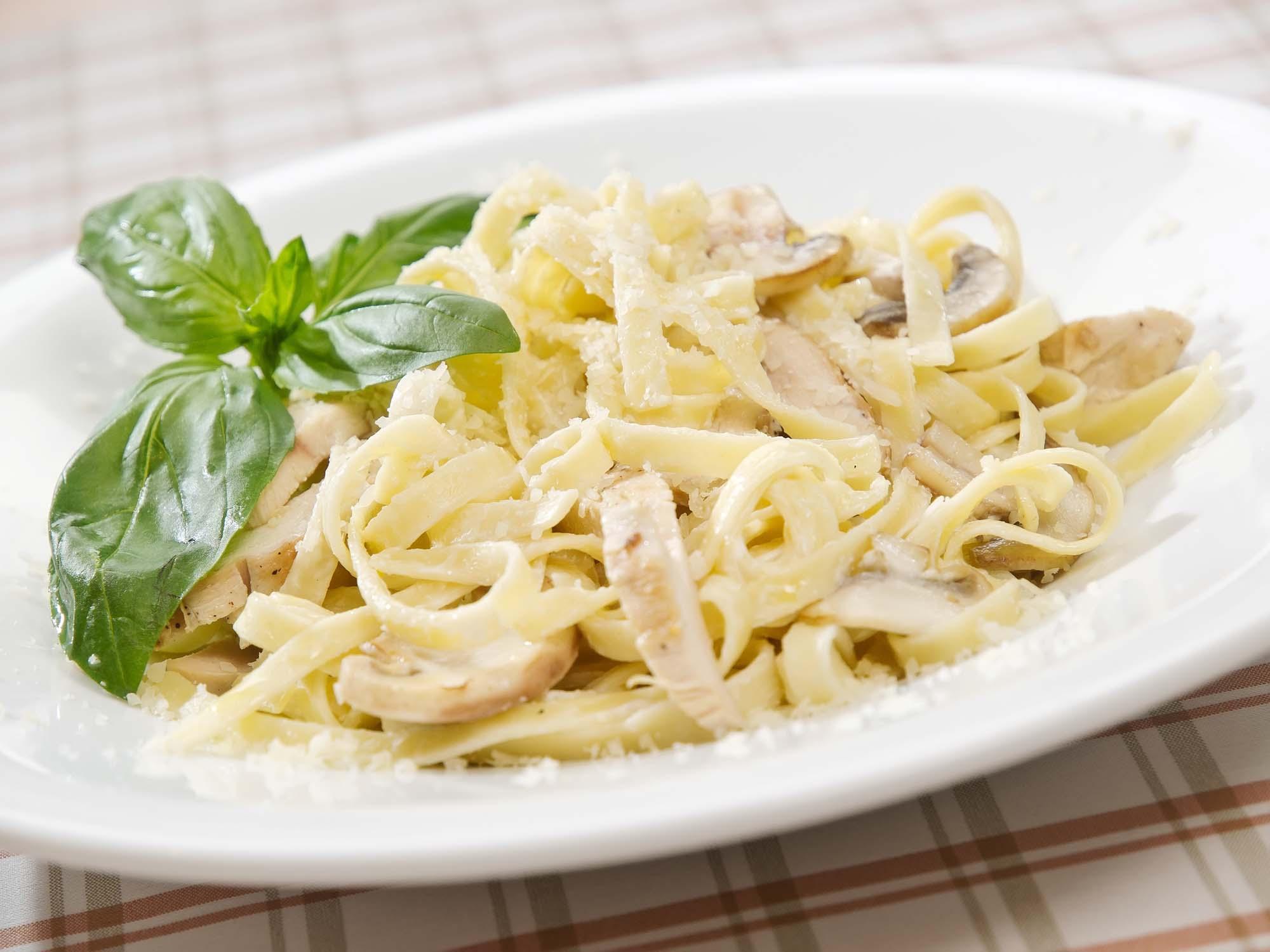 Kalkunbryst med frisk pasta
