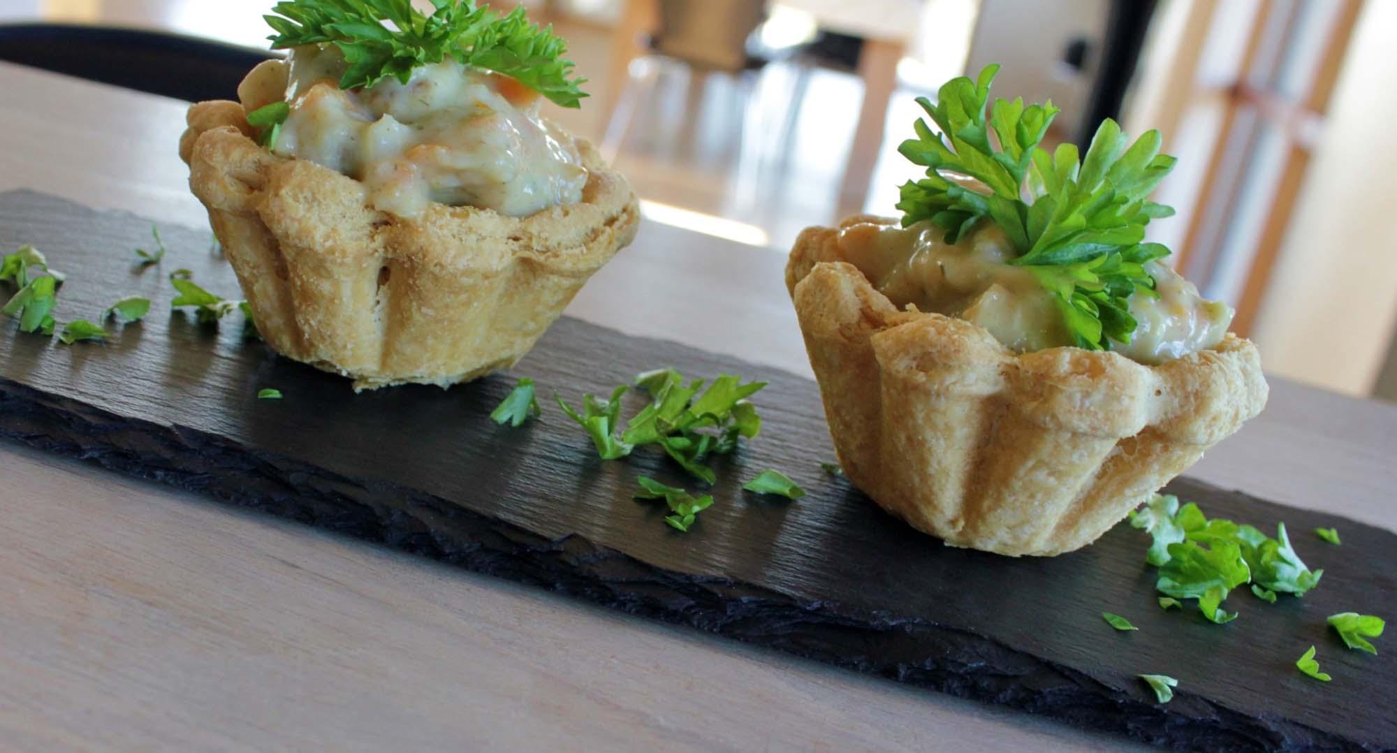 Tarteletter med høns i asparges