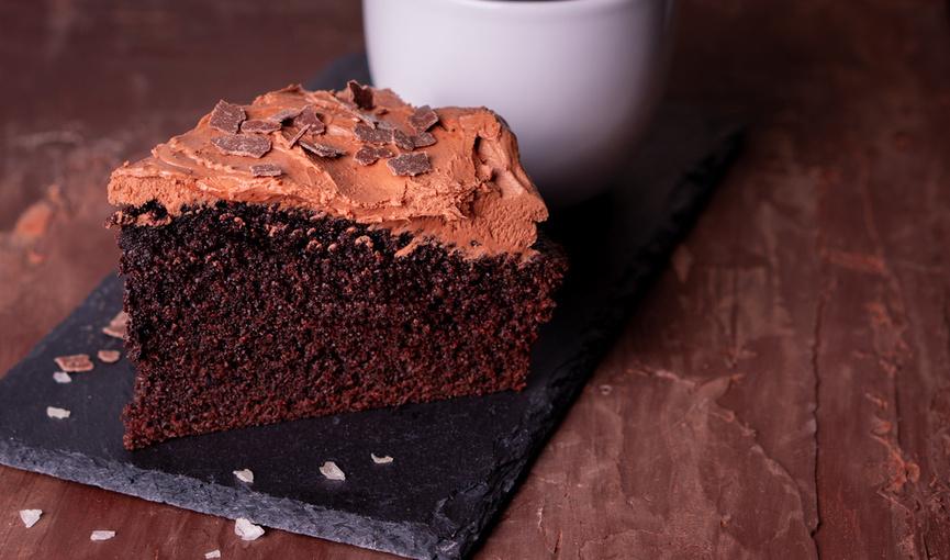Chokoladekage med frosting