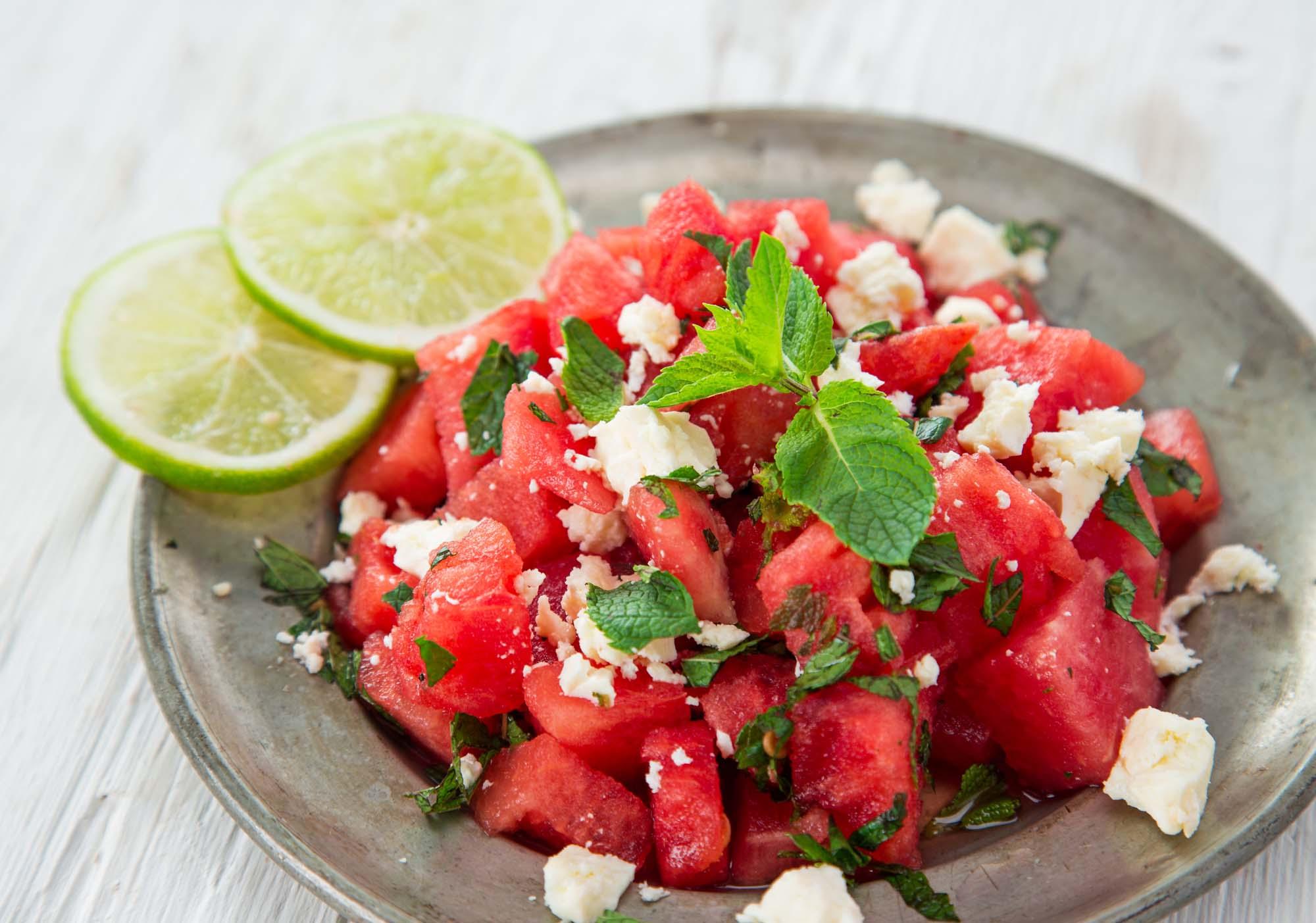 Salat - med Feta ost og vandmelon