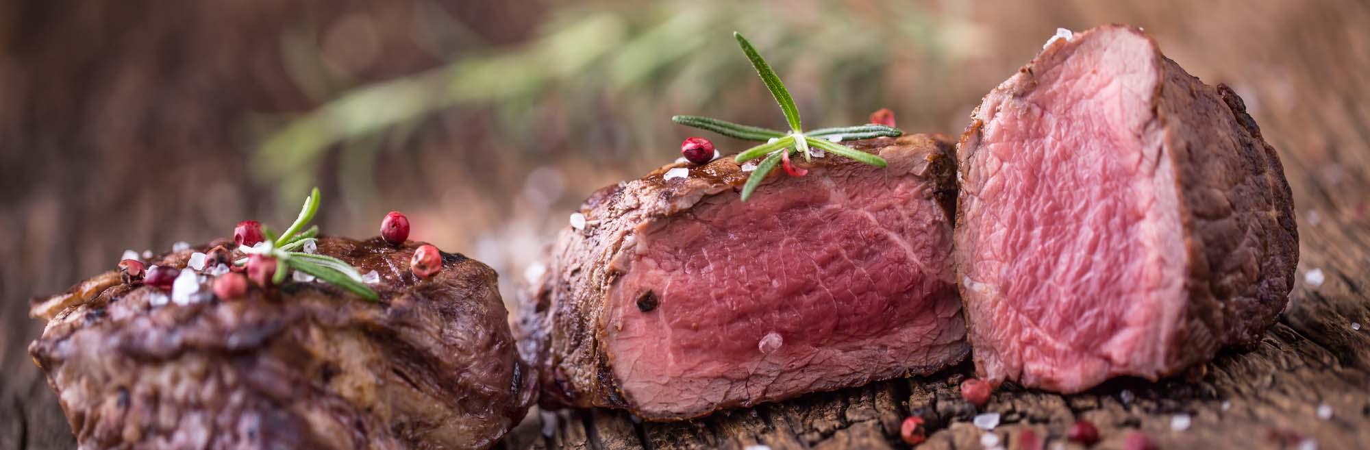 Oksemørbrad stegt som steaks