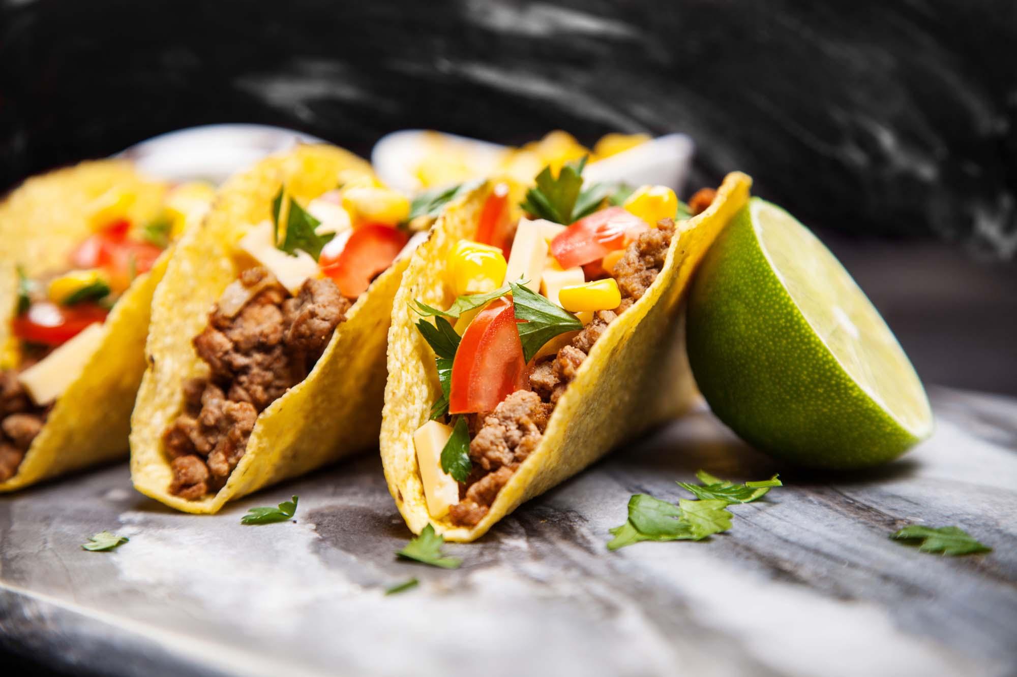 Taco med oksekød