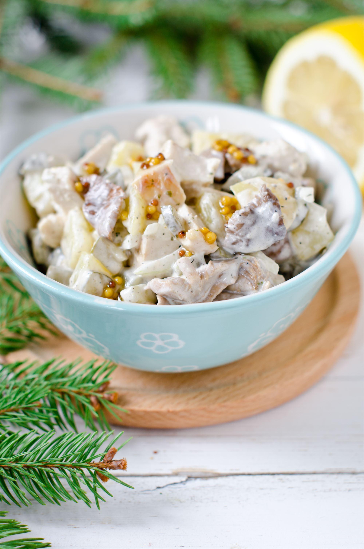 Kyllingesalat med kartoffel og kørvel