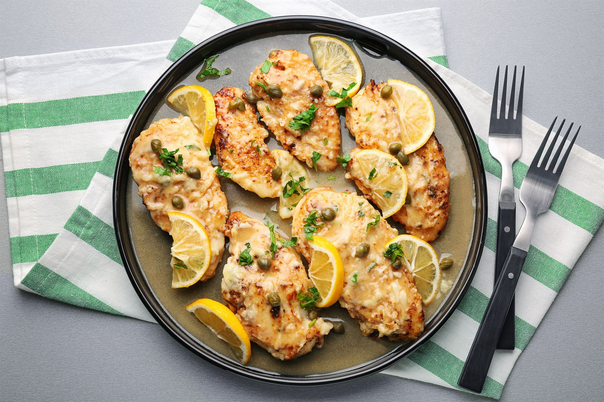 Kylling med citron- og kaperssauce