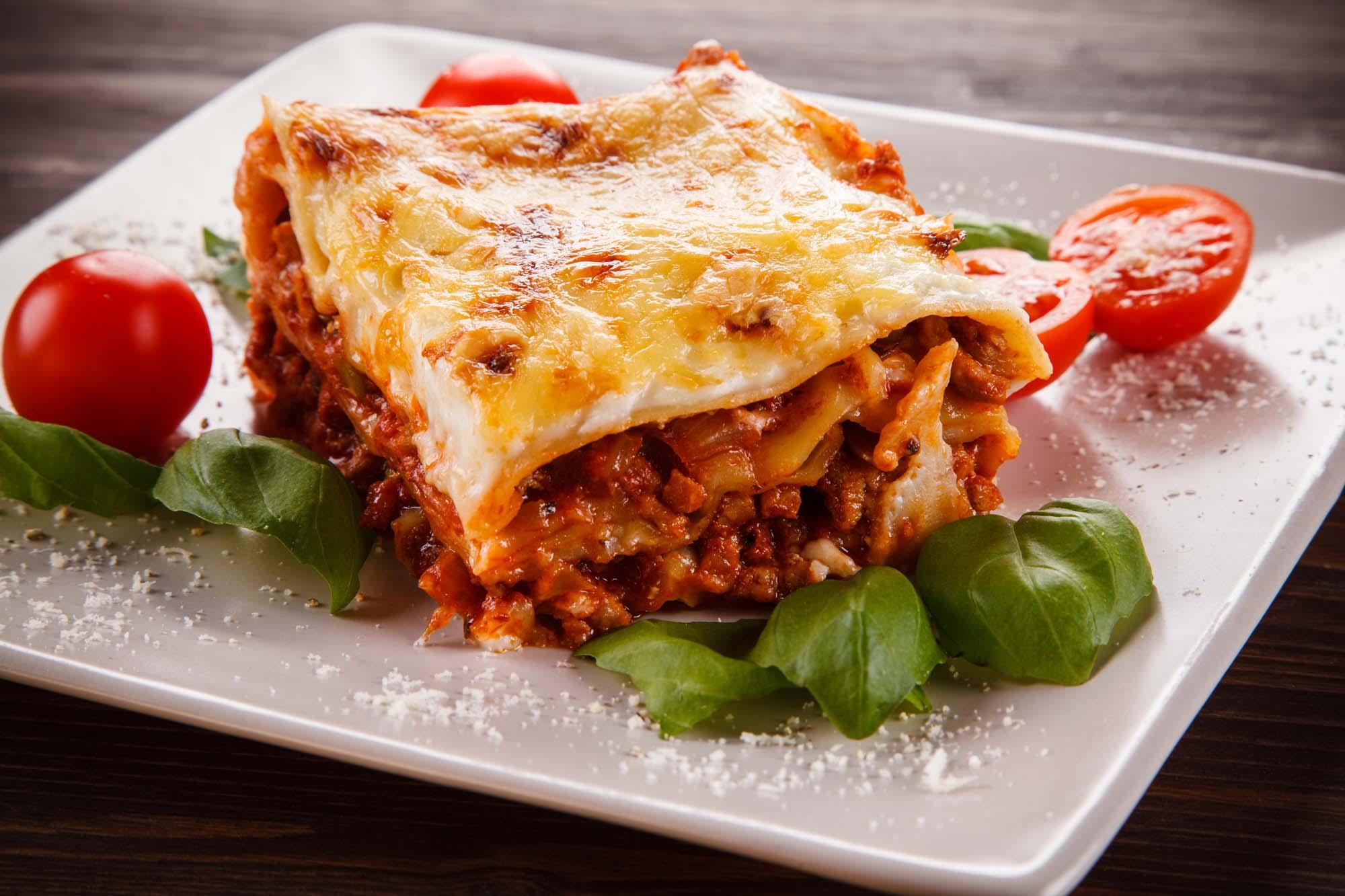 Lasagne med mornaysauce