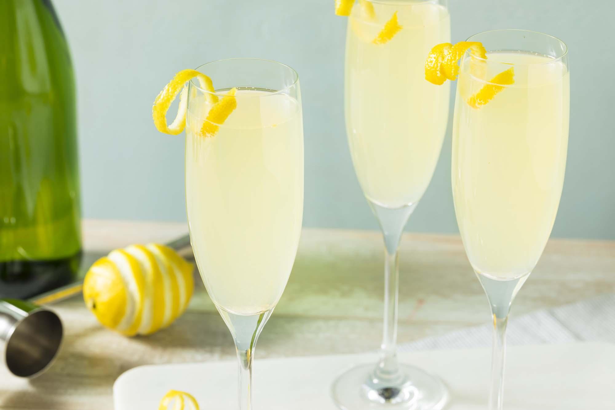 Champagne drik med citrus