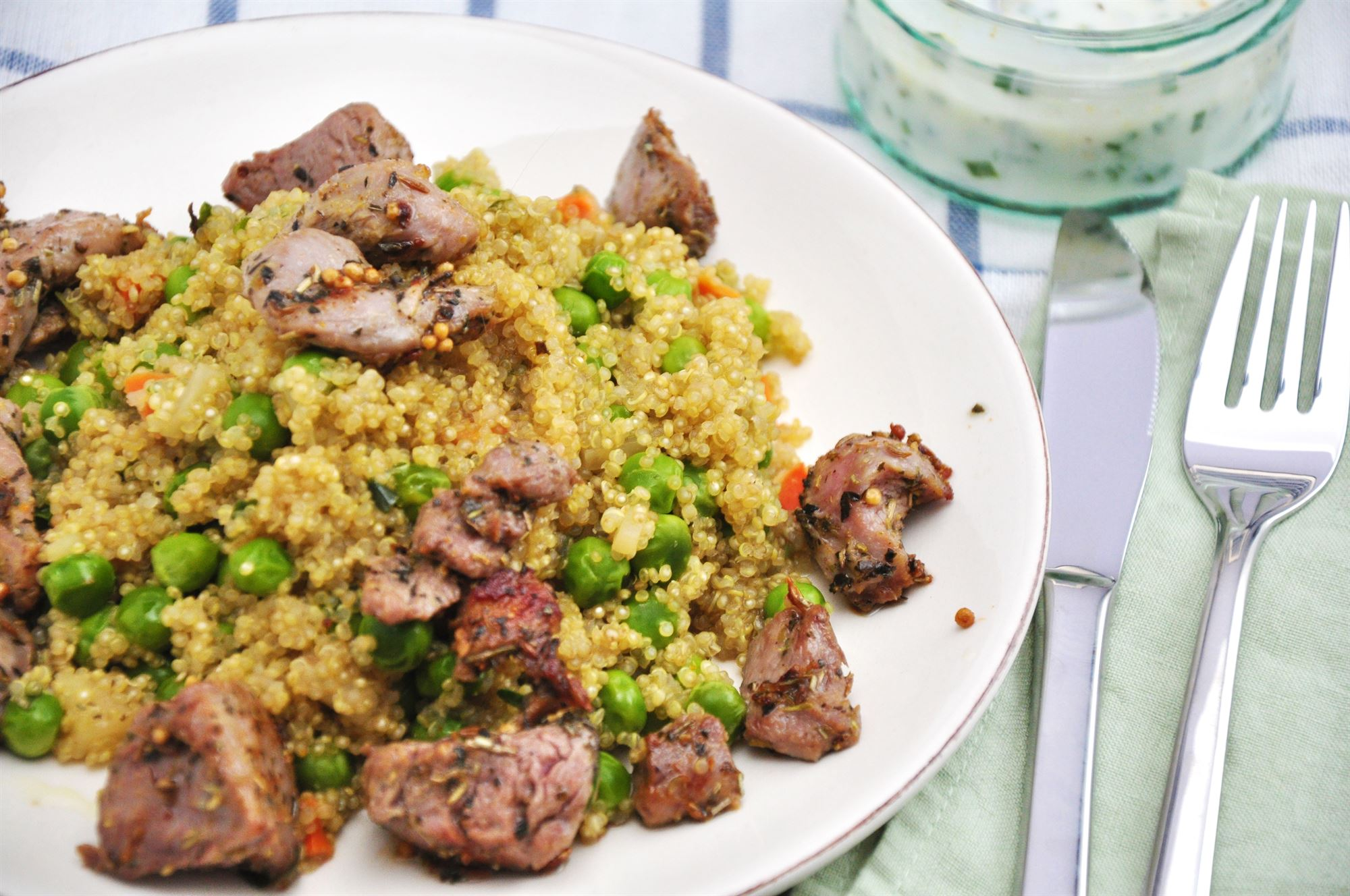 Marineret lammefilet med couscous