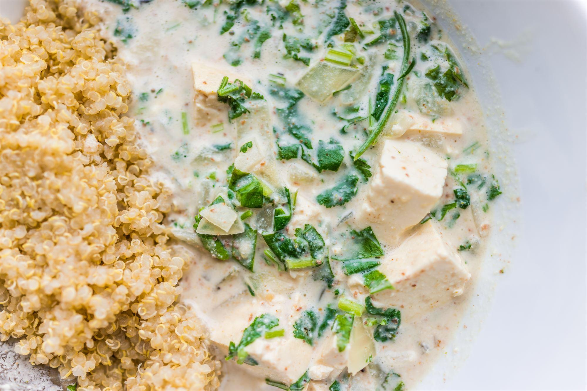 Grøn karry tofu