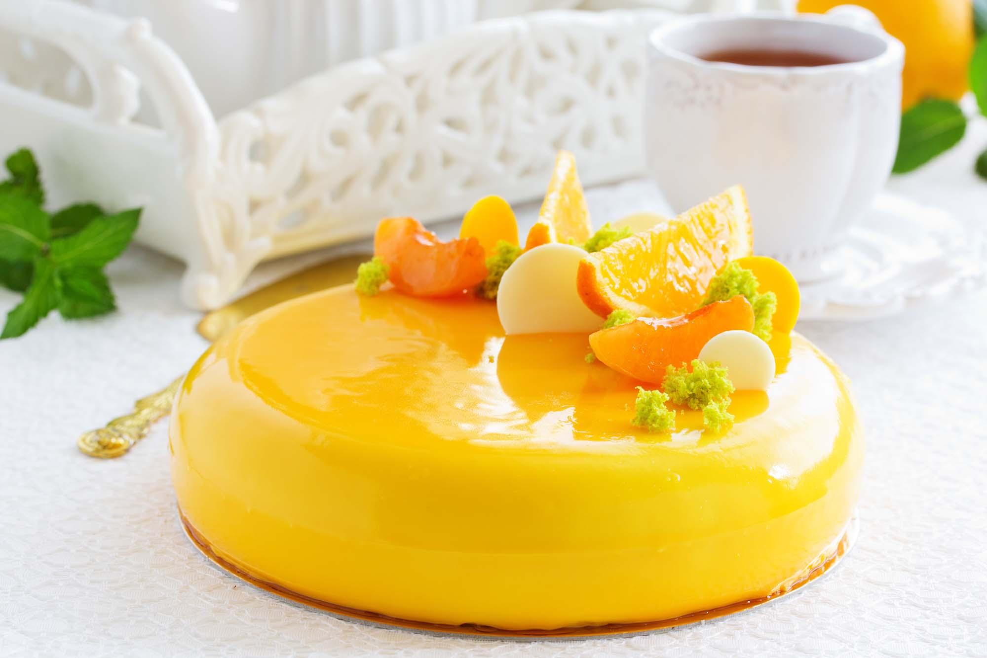 Appelsinkage med fyld