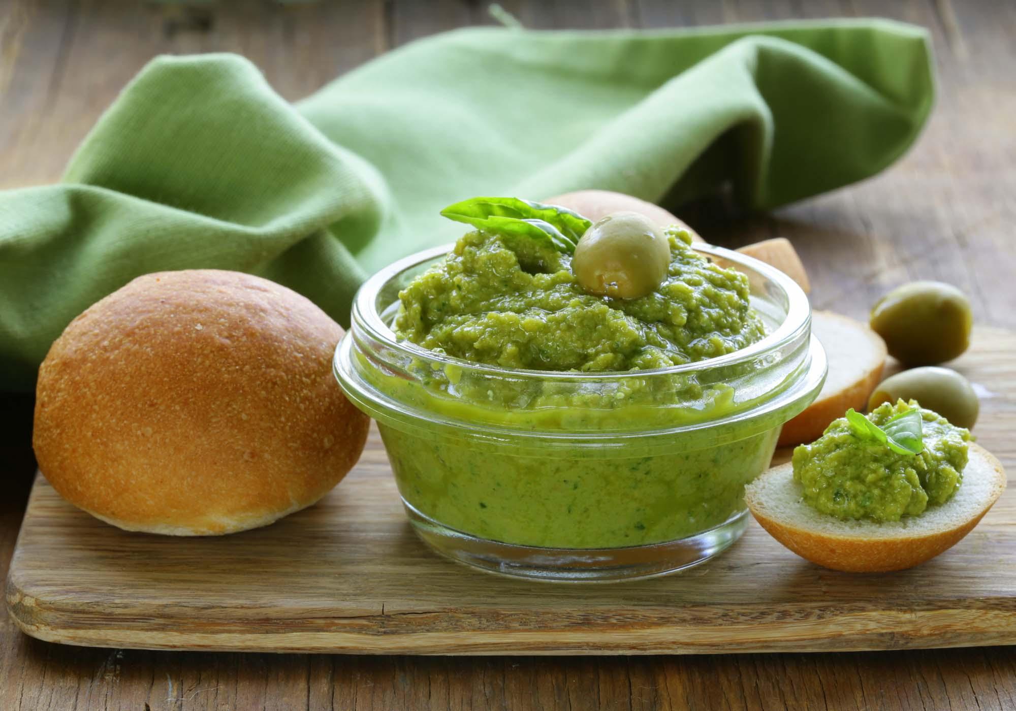Tapenade med grønne oliven