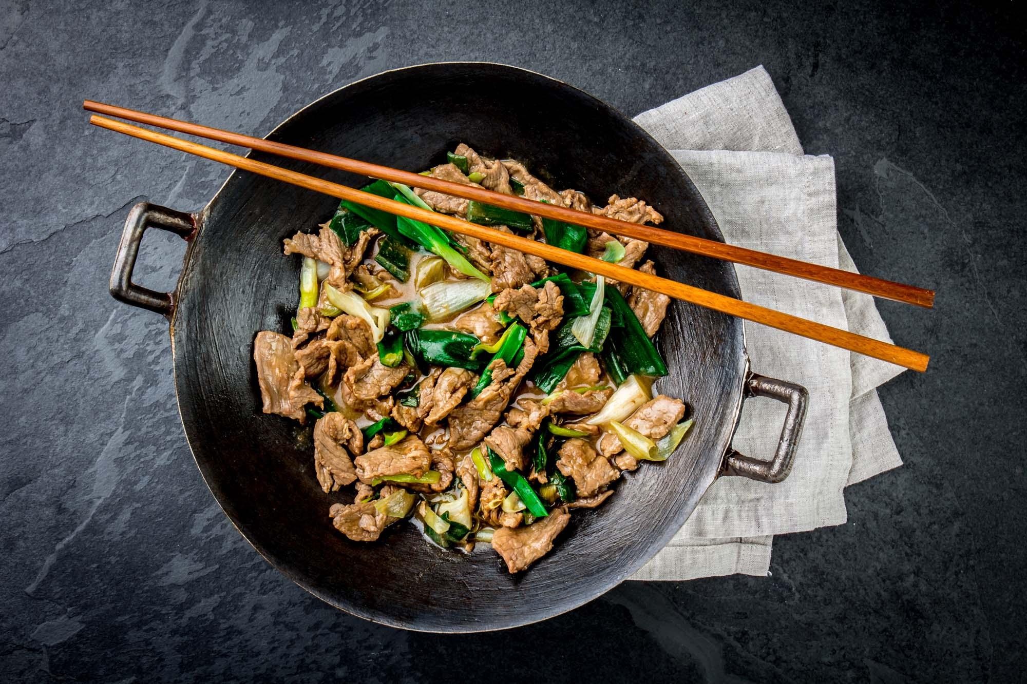 Bøf i wok