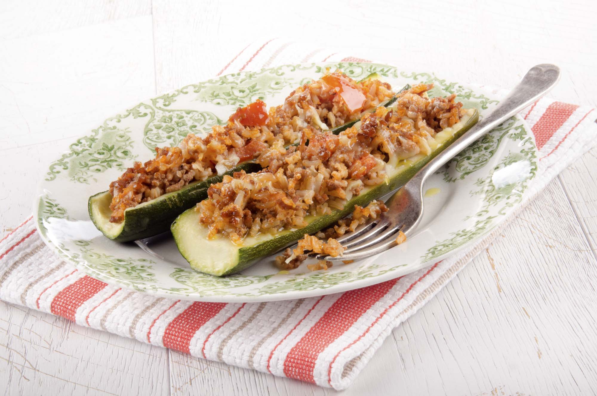 Squash fyldt med vilde ris