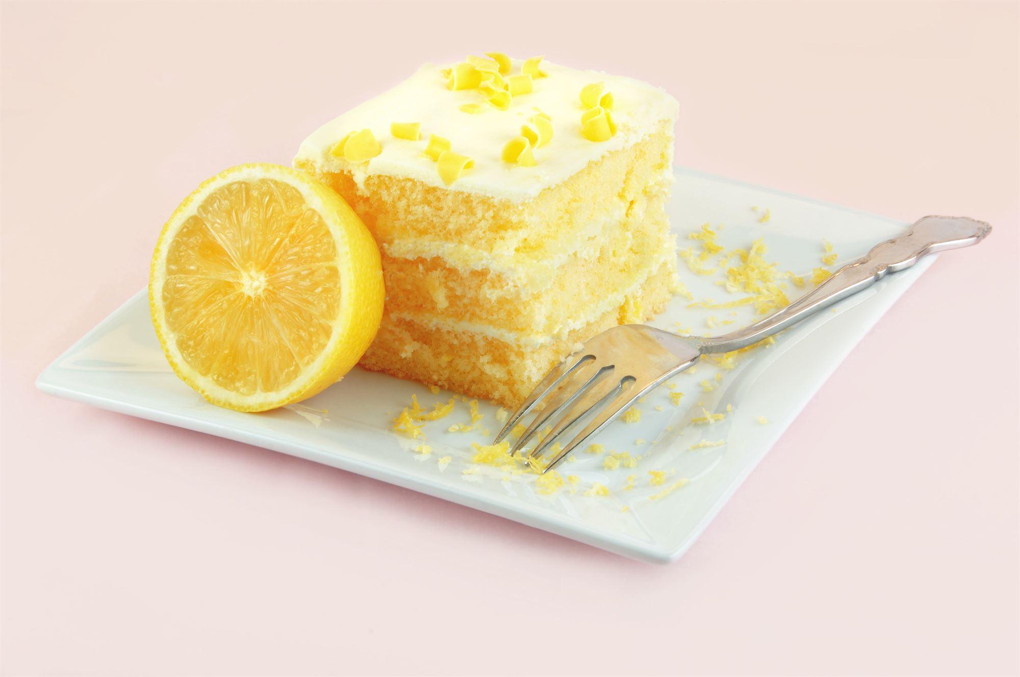 Lagkage med citroncreme