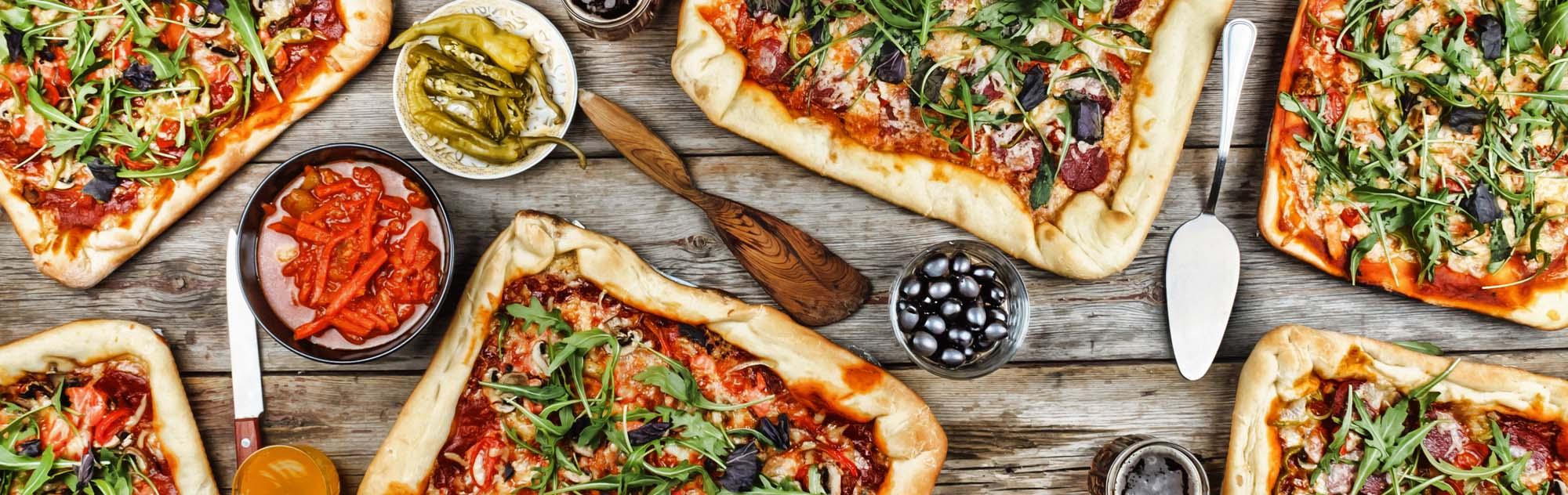 Bradepande pizza