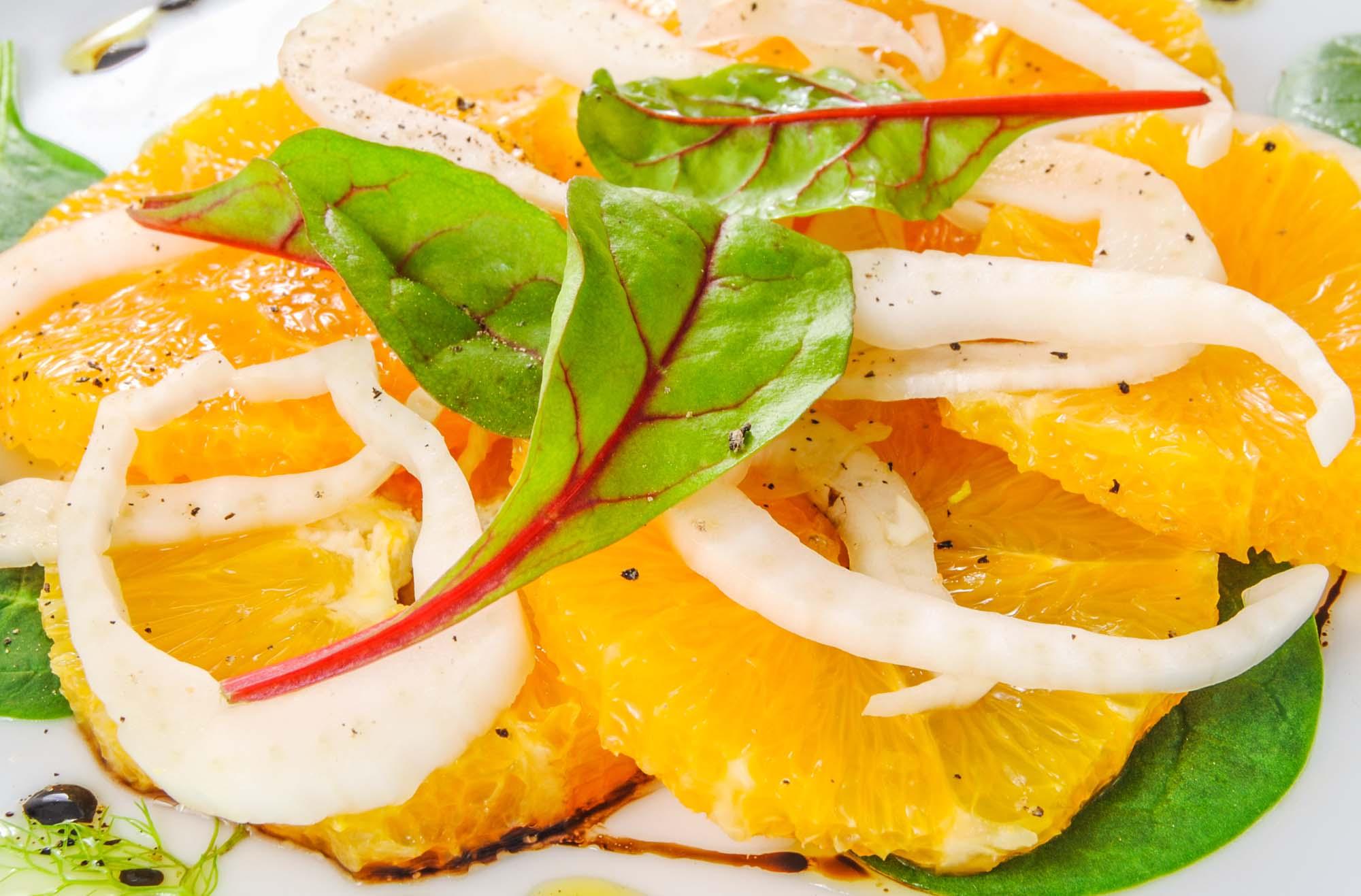 Salat med appelsin og fennikel