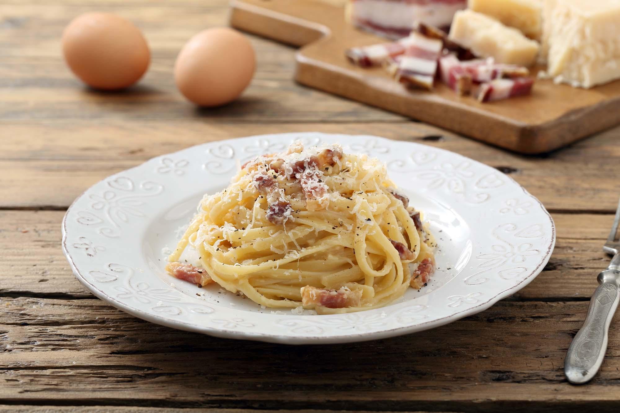 Pasta Carbonara - Kulsvigerkonens pasta