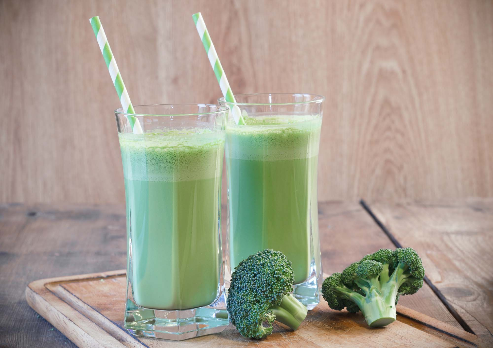 Broccoli og mynte smoothie