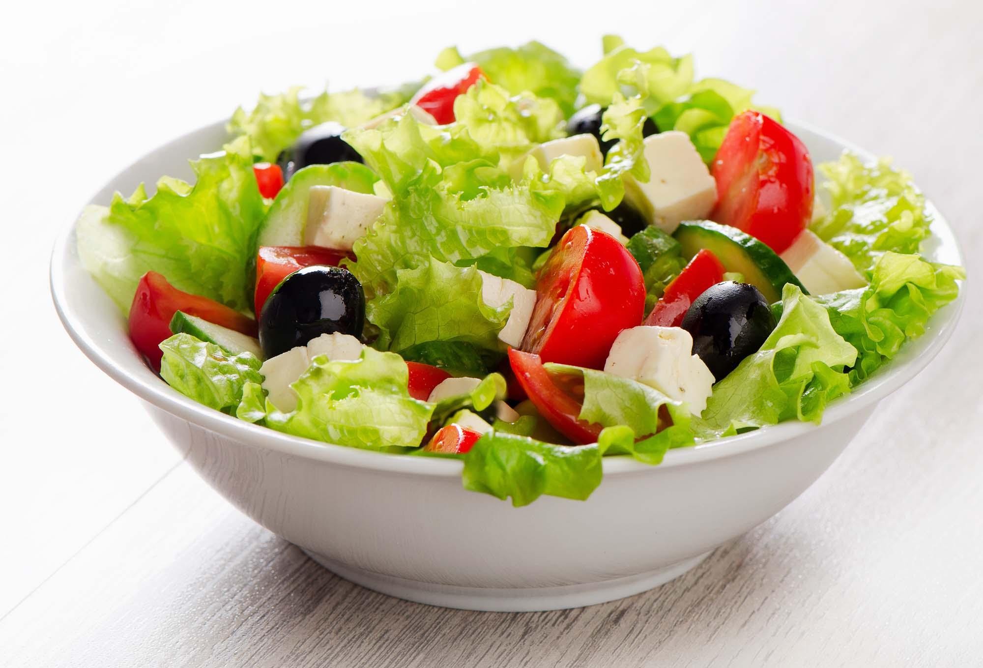Græsk salat uden løg