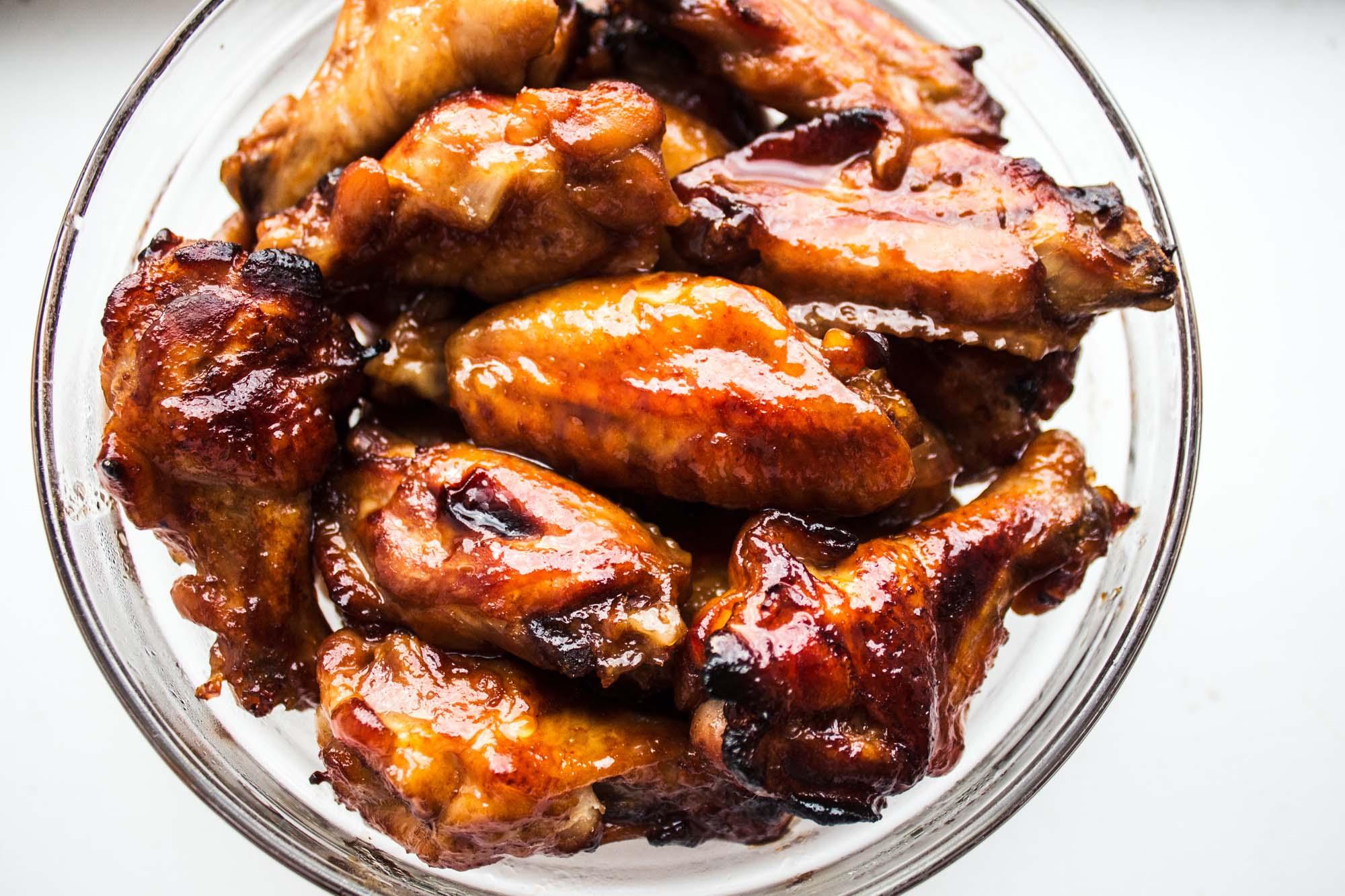 Kyllingevinger med soja- og honningglasur