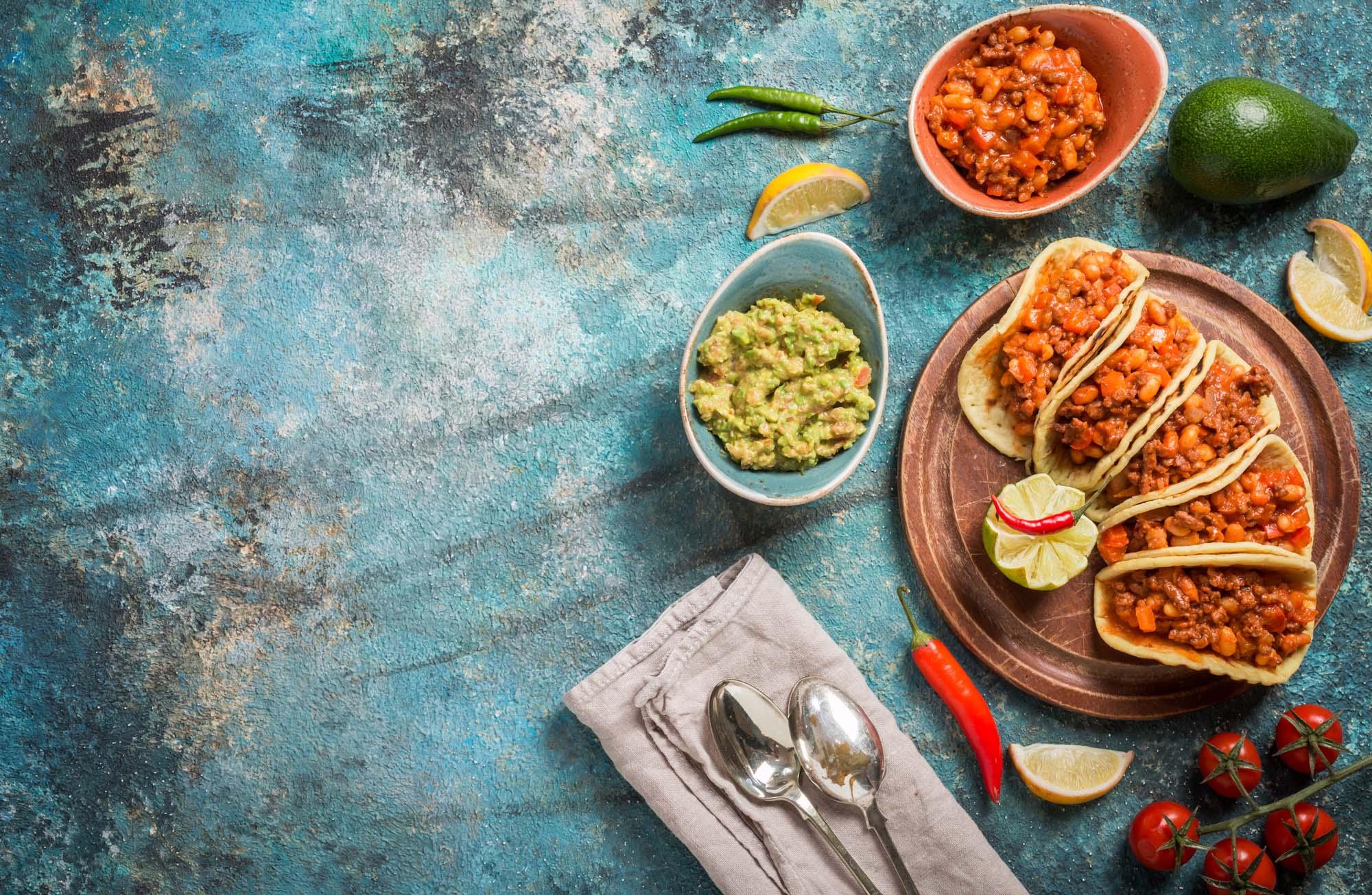 Mexicansk tacos med oksekød