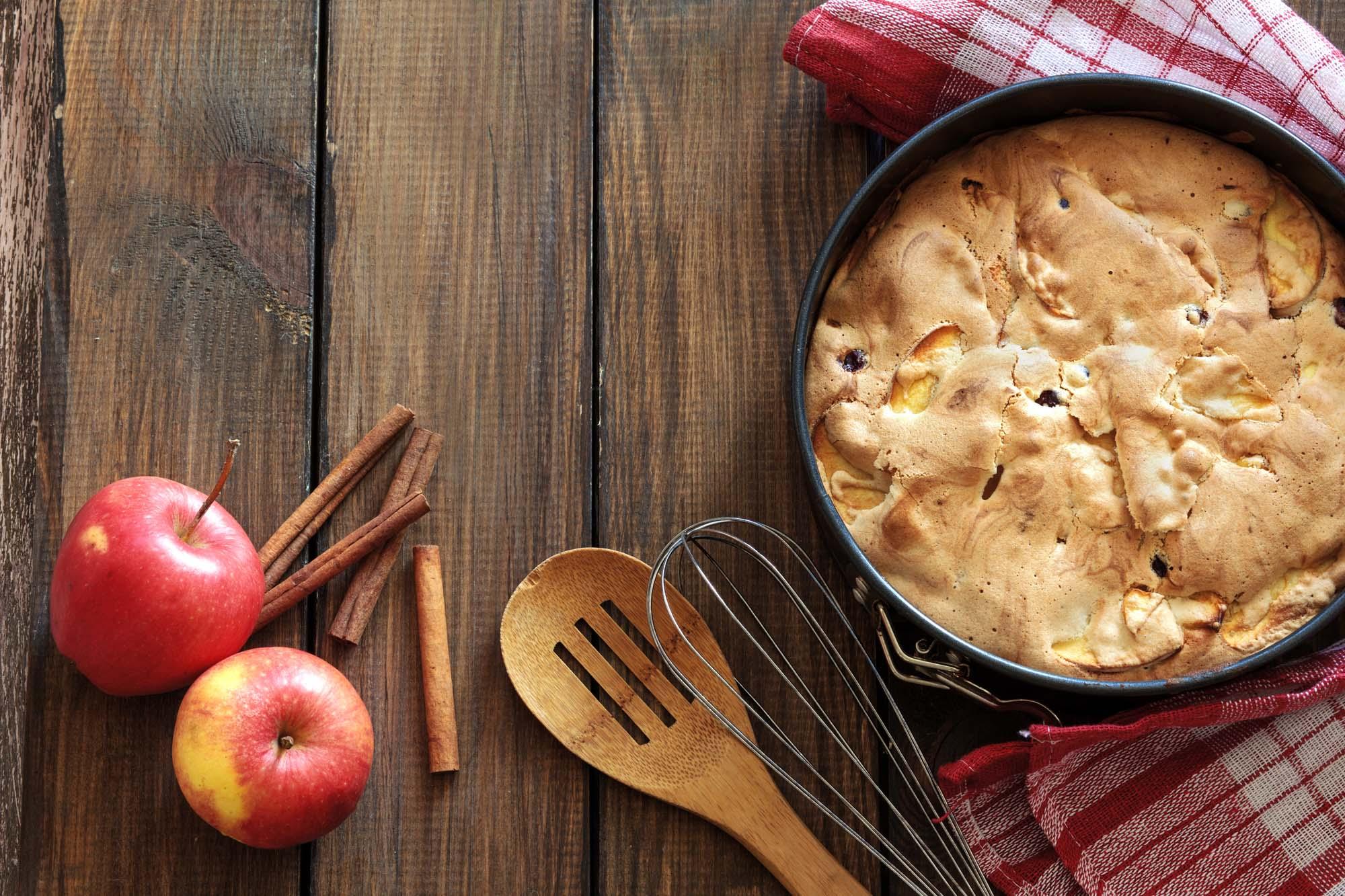 Amerikansk Æblekage med flødeskum 6 pers