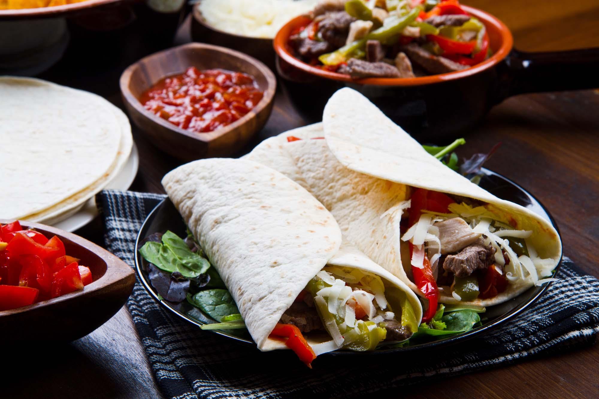 Fajitas med wokstrimler a la Mexico