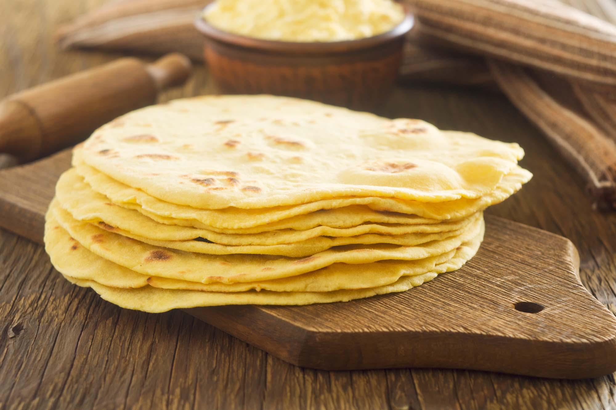Hjemmebagte Tortillas