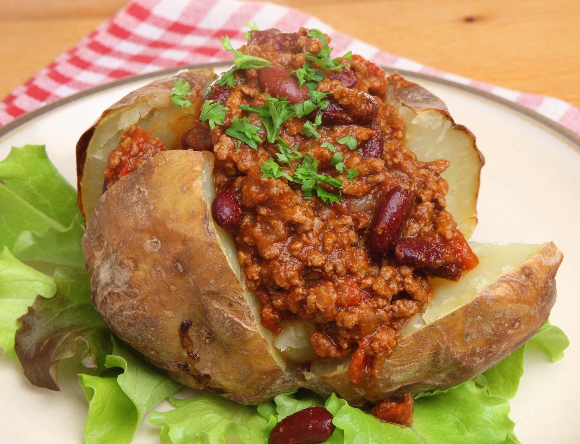 Bagekartofler med fyld