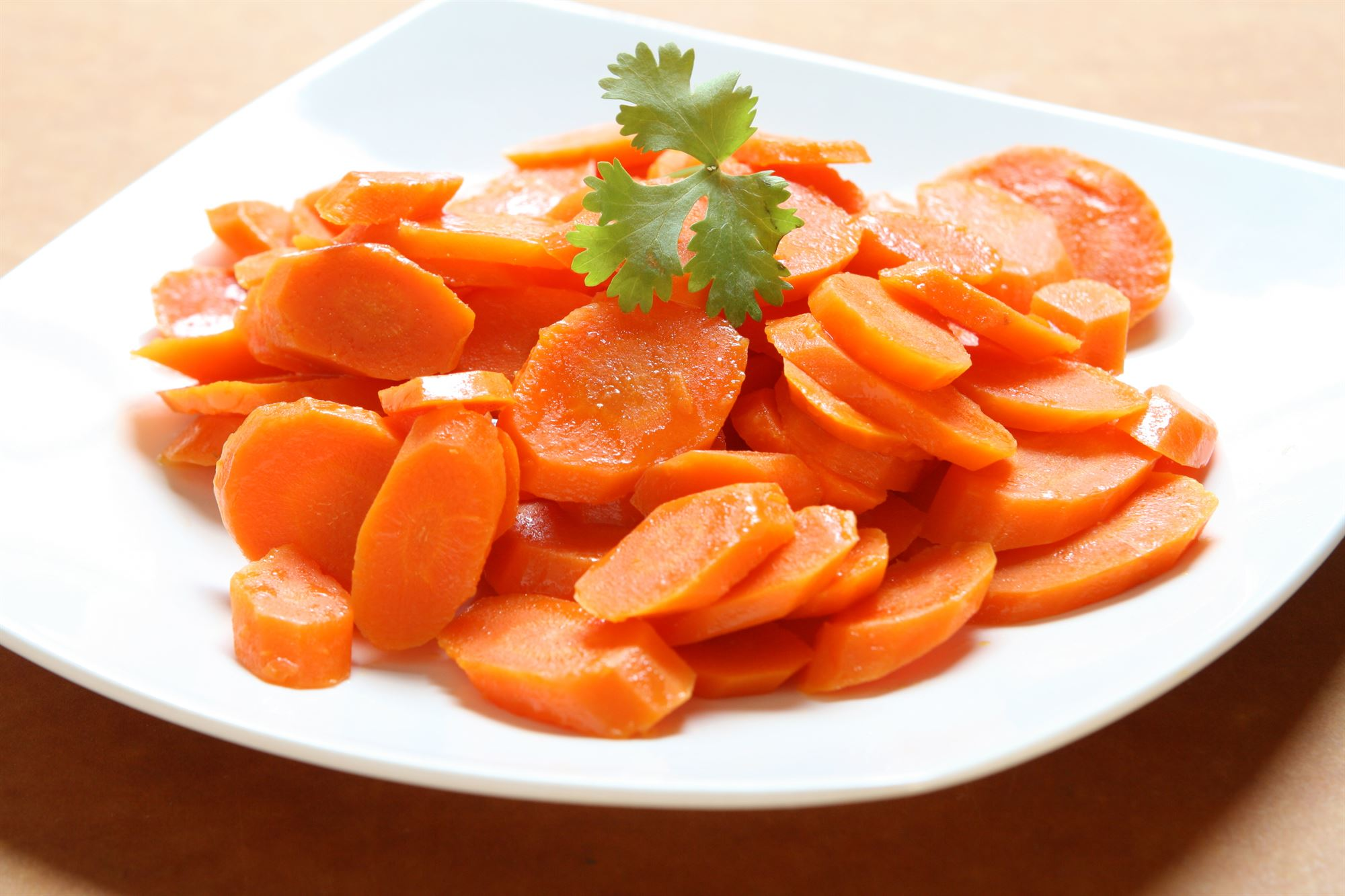 Sirupglaserede gulerødder