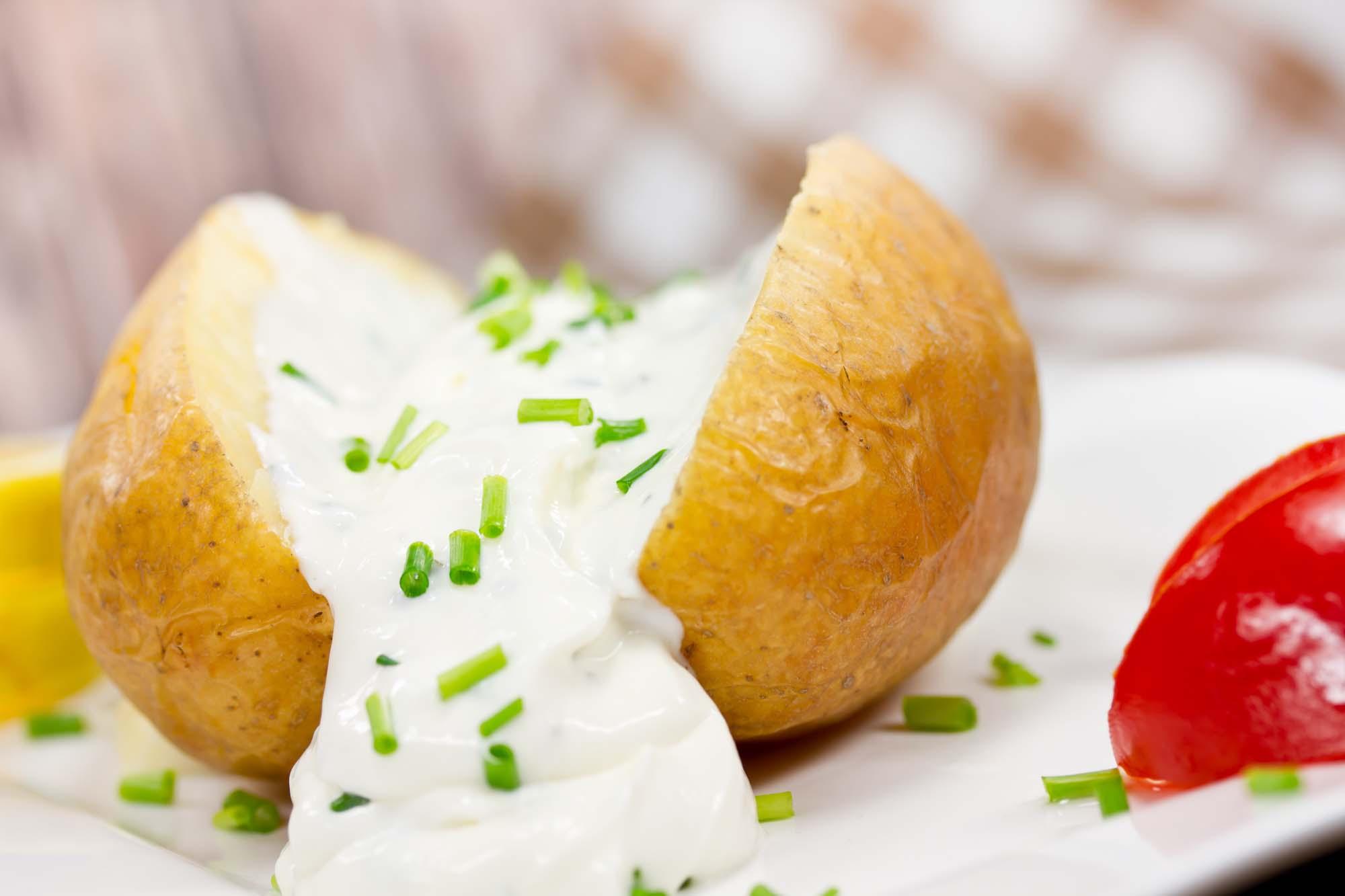 Bagekartofler med Cremecheese
