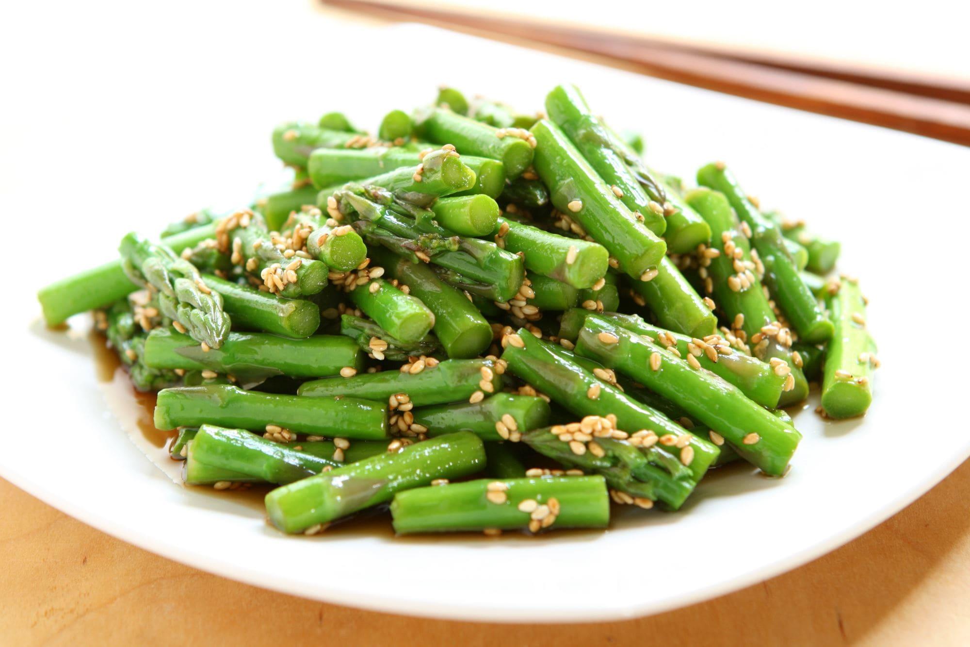 Asparges i wok