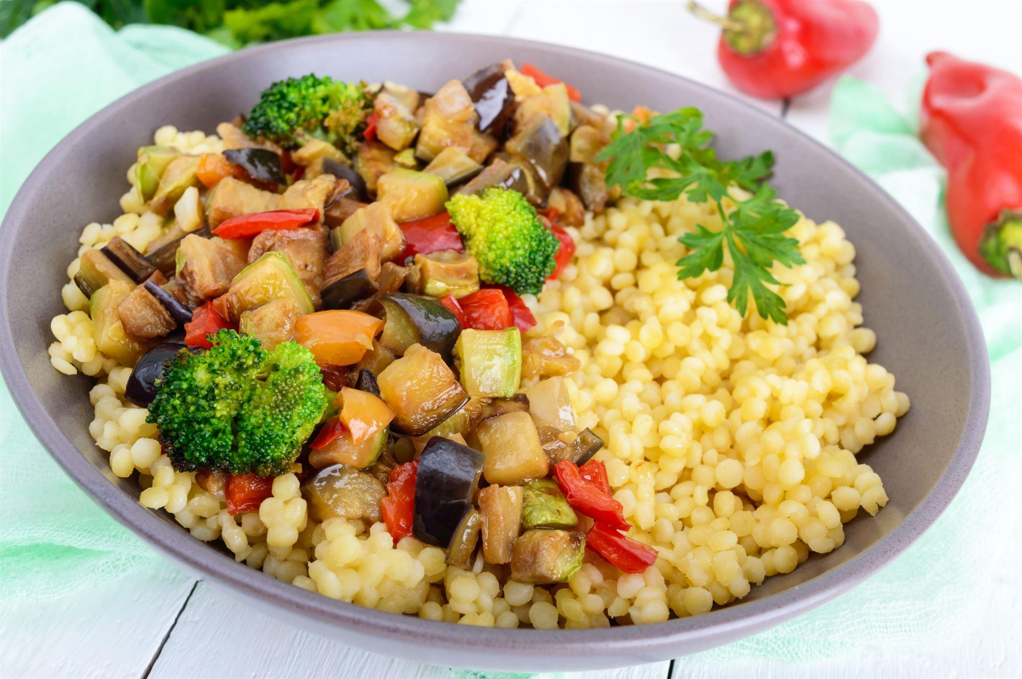 Sommergrøntsager med couscous