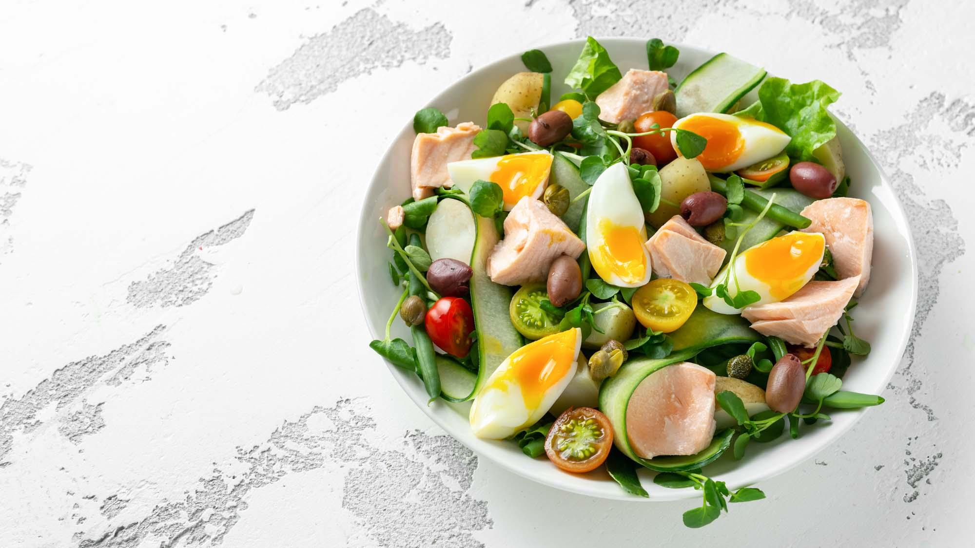 Salade nicoise med kartoffel
