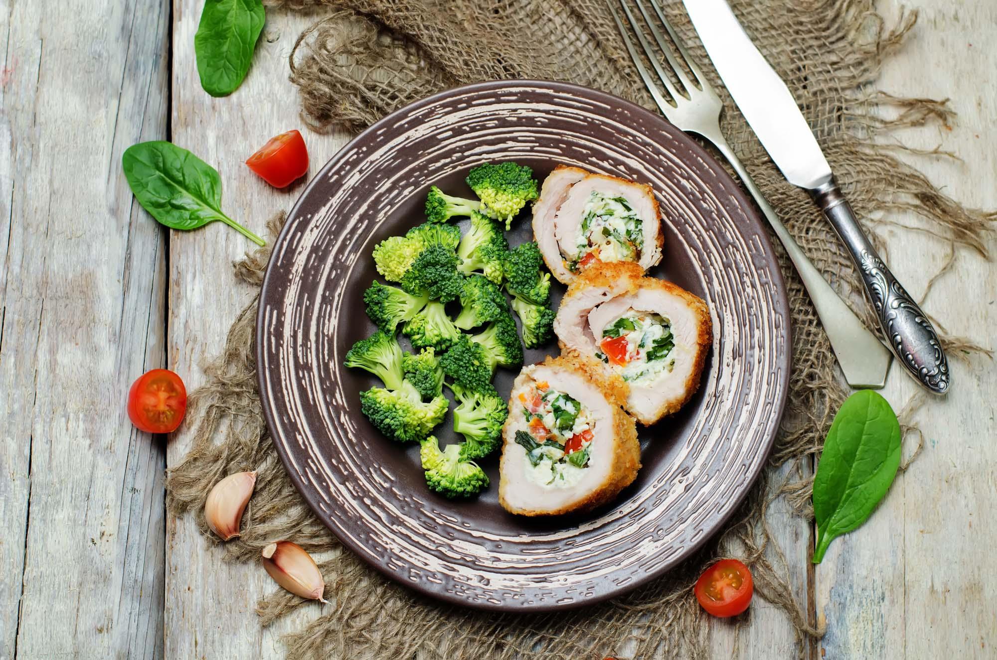 Broccolifyldt kalkunbryst