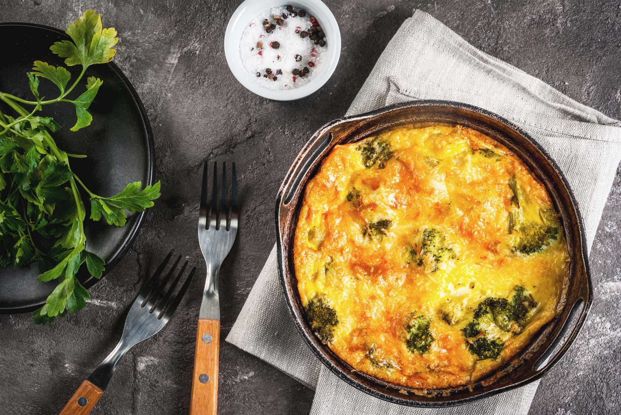 Broccoli and feta cheese