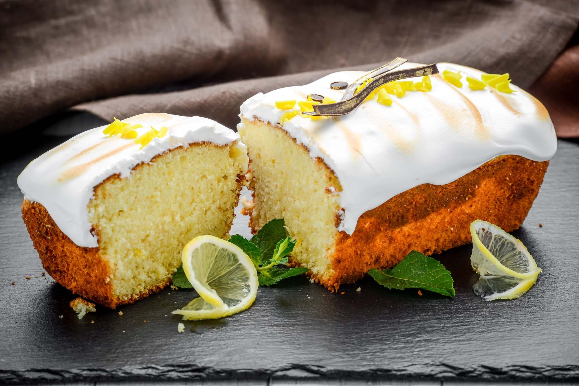 Kage med citronskal