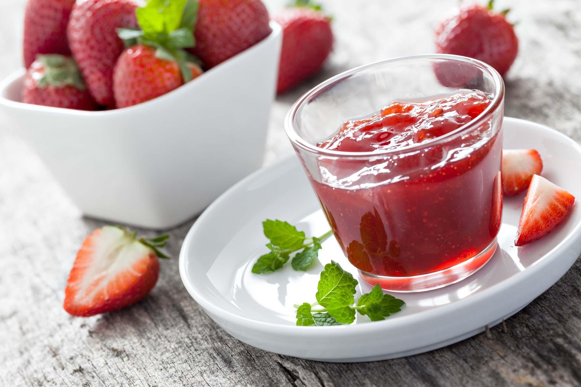 Frisk jordbærmarmelade