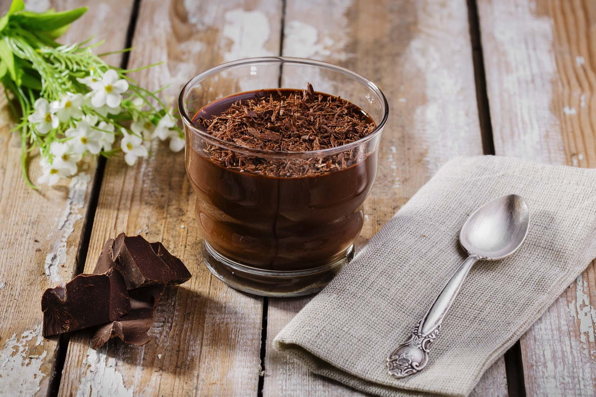 Chokolademousse med krymmel