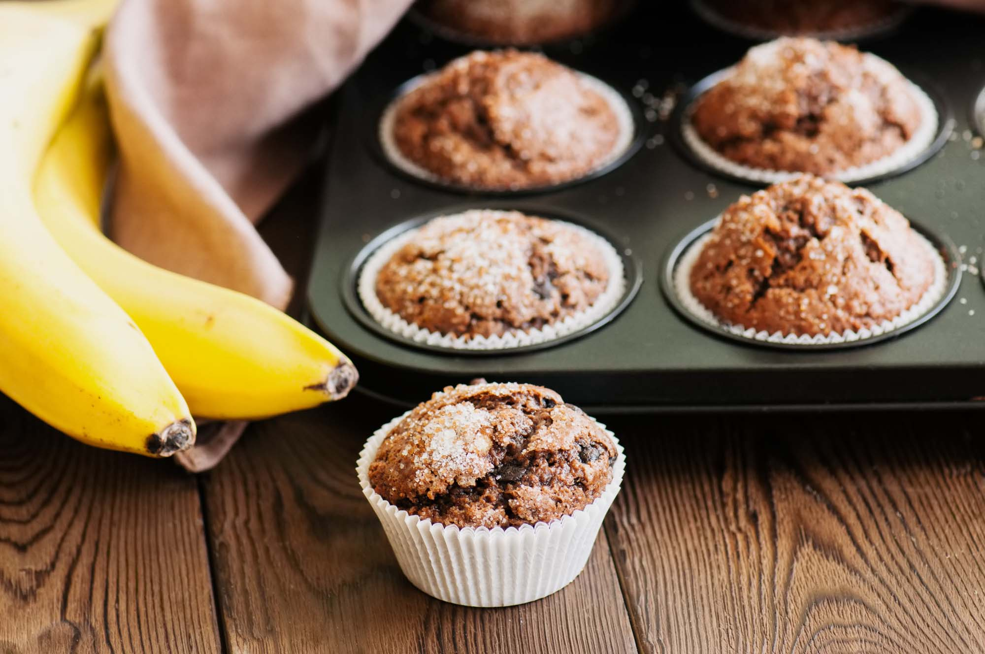 Banan choko muffins