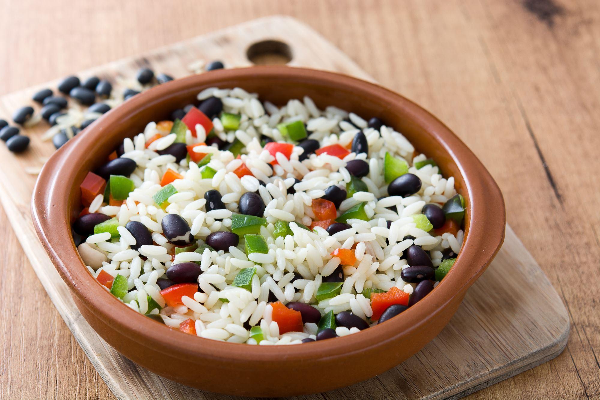 Cubanske ris med bønner