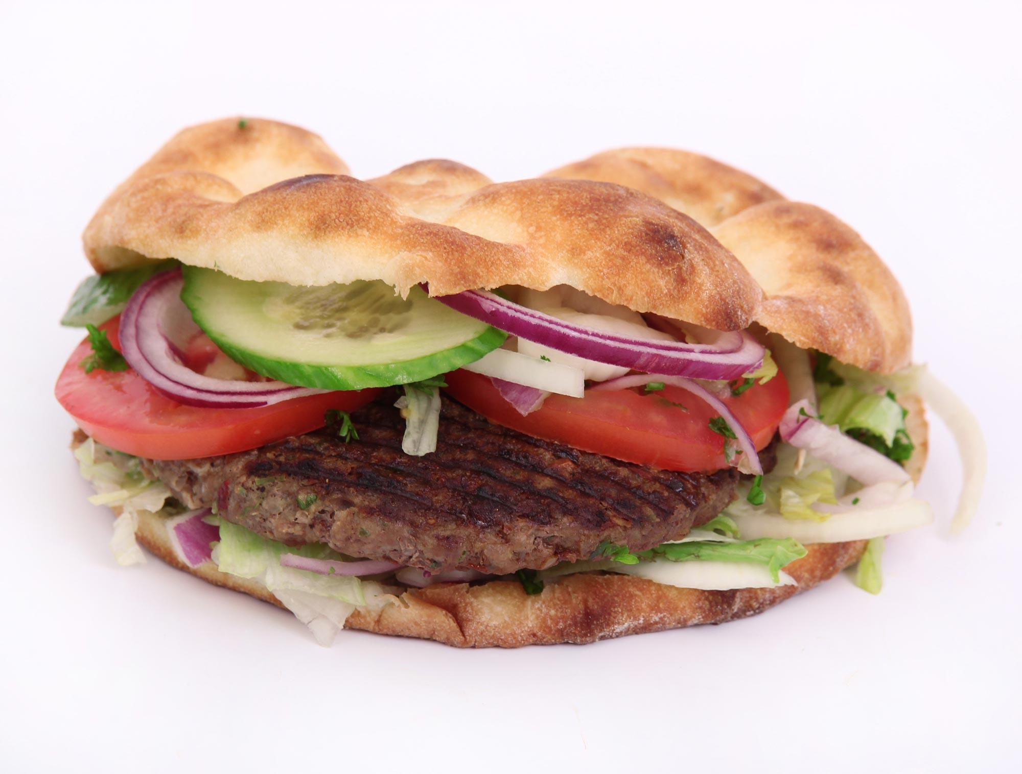 Græske burgere med tzatziki