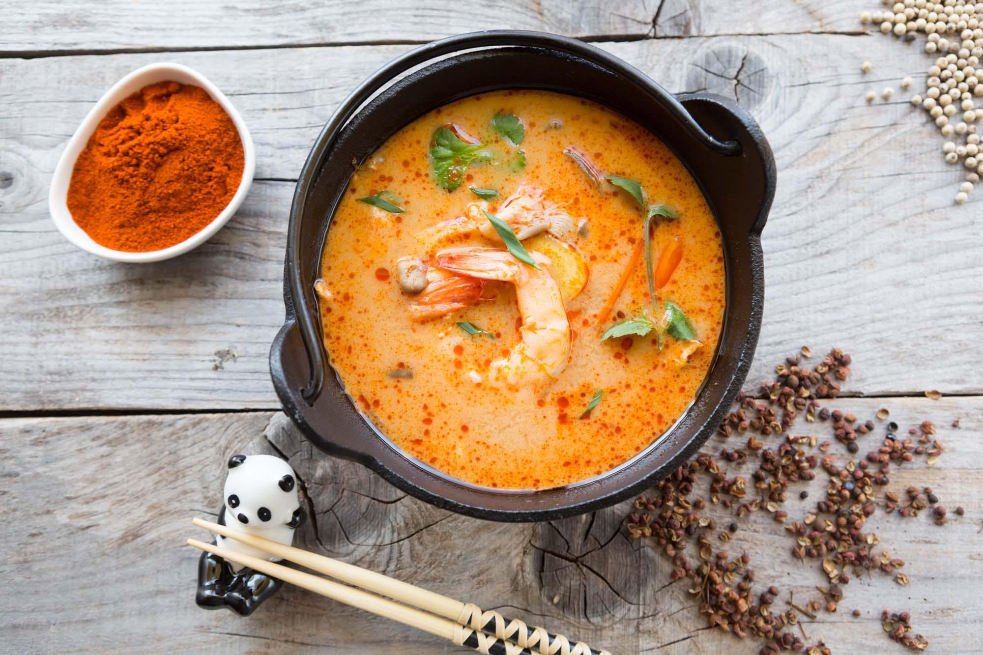Fiskesuppe med rejer