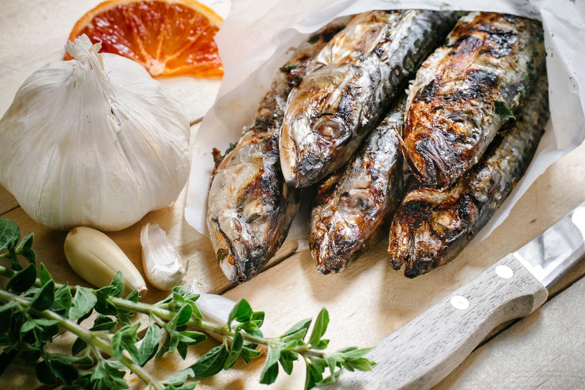 Grillet makrel med timian