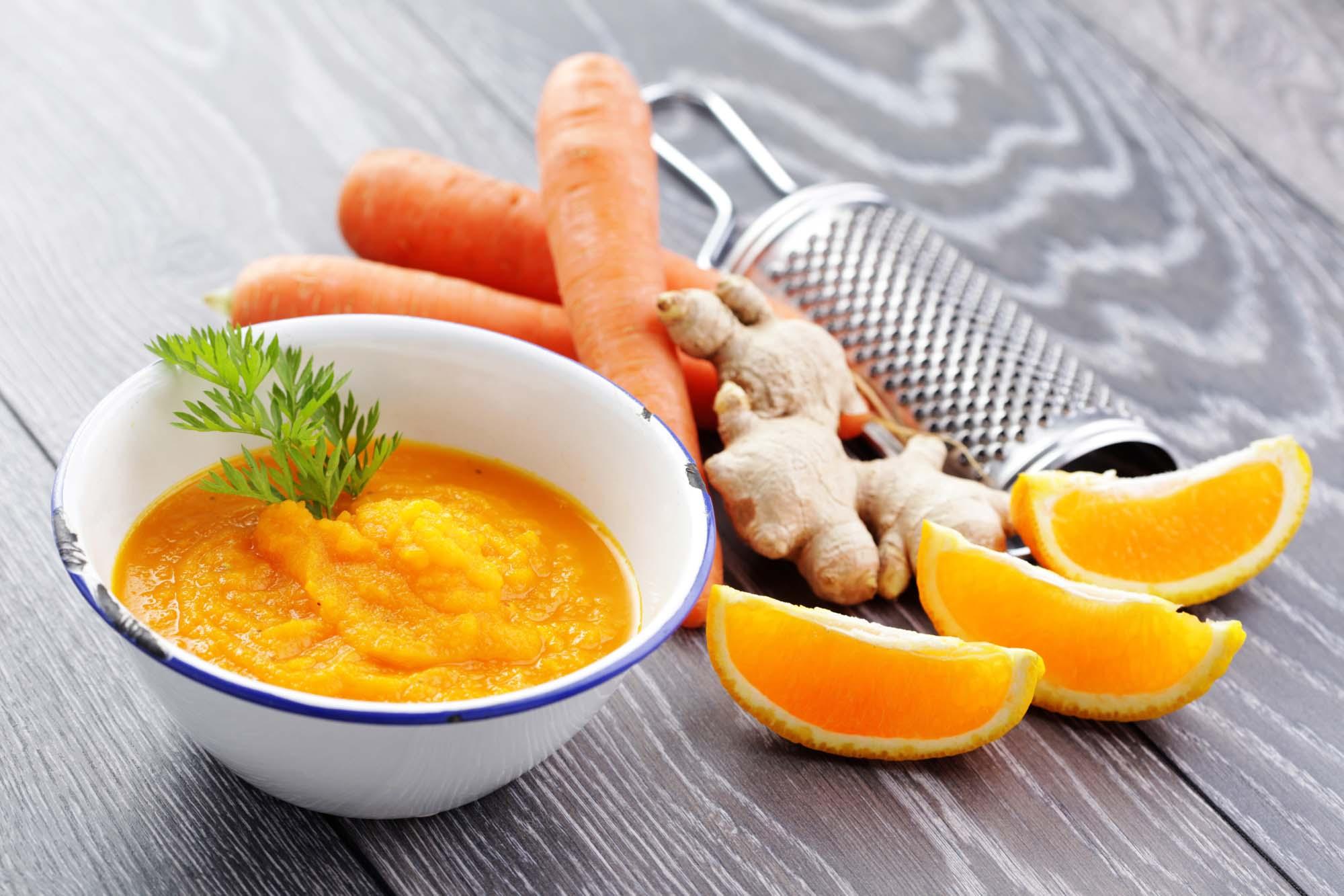 Appelsin- og gulerodssuppe