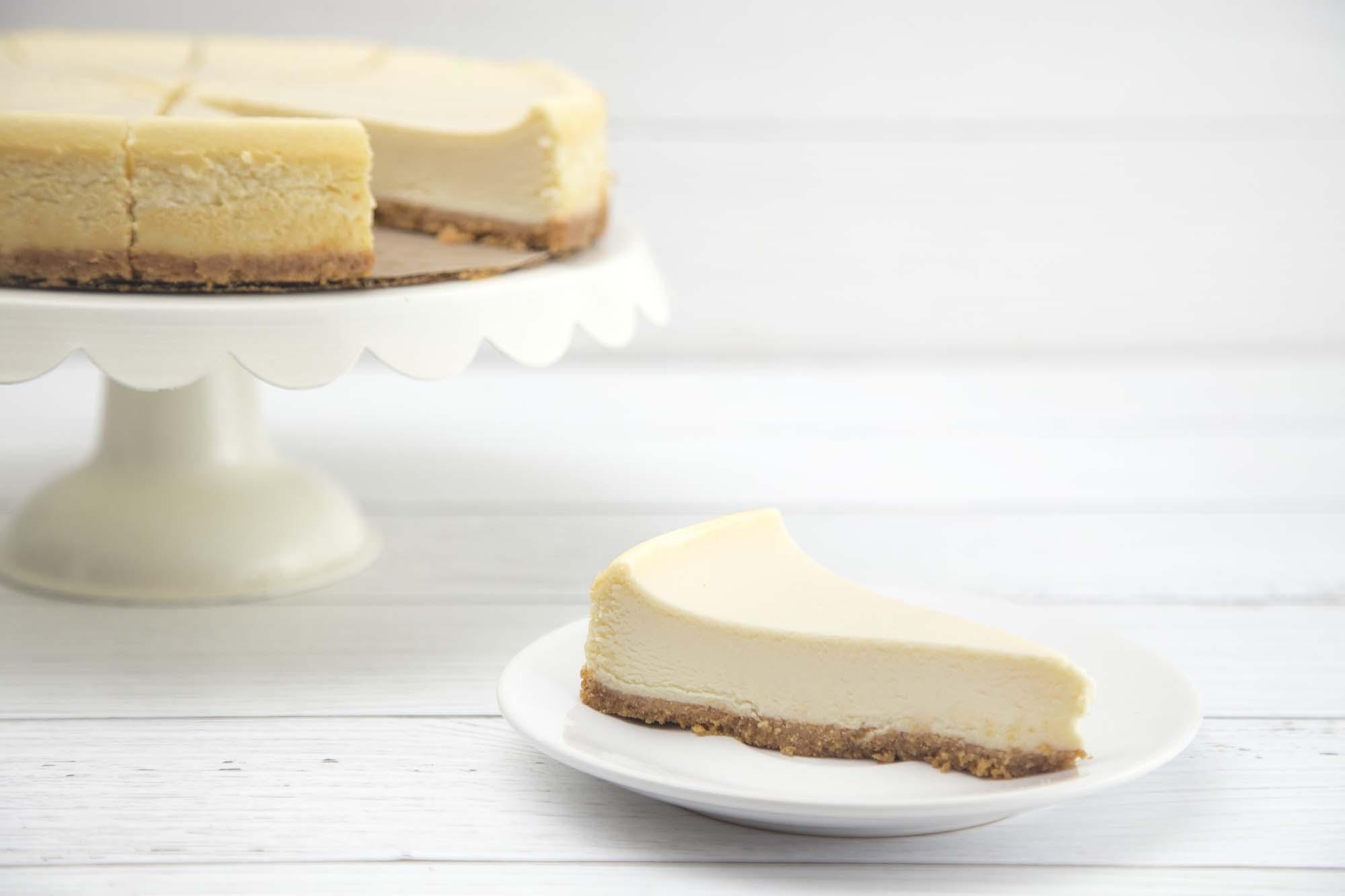 Bagt cheesecake - New York style